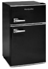 Montpellier Retro A+ Rated Under Worktop Static Fridge Freezer MAB2030K (Black)